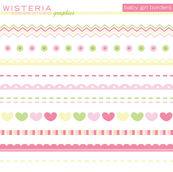 Wisteria clipart border Baby clipart Collection girl clipart