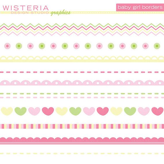 Wisteria clipart border Baby border clipart Baby new