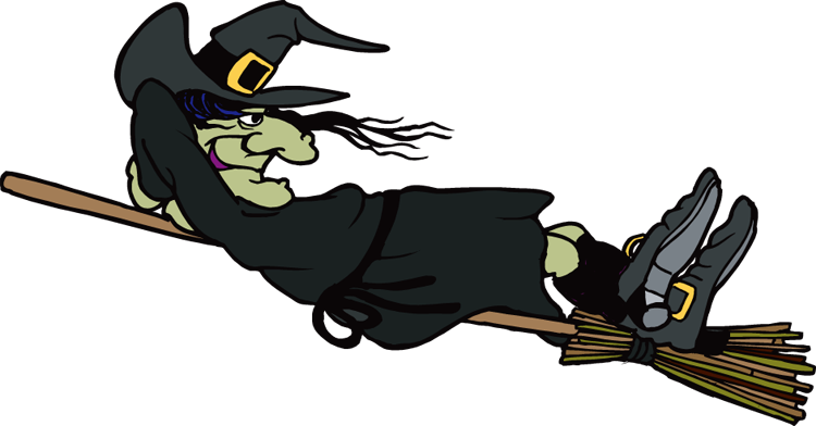 Witch clipart #6