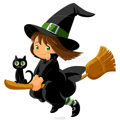 Witch clipart WITCH CLIP ART BABY WITCH