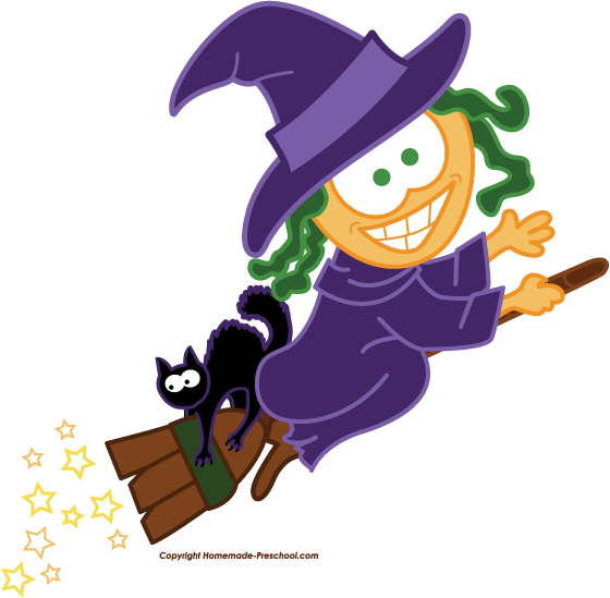 Witch clipart #12
