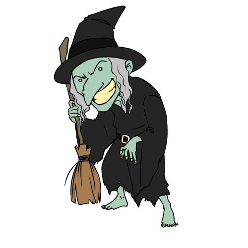 Witch clipart #14