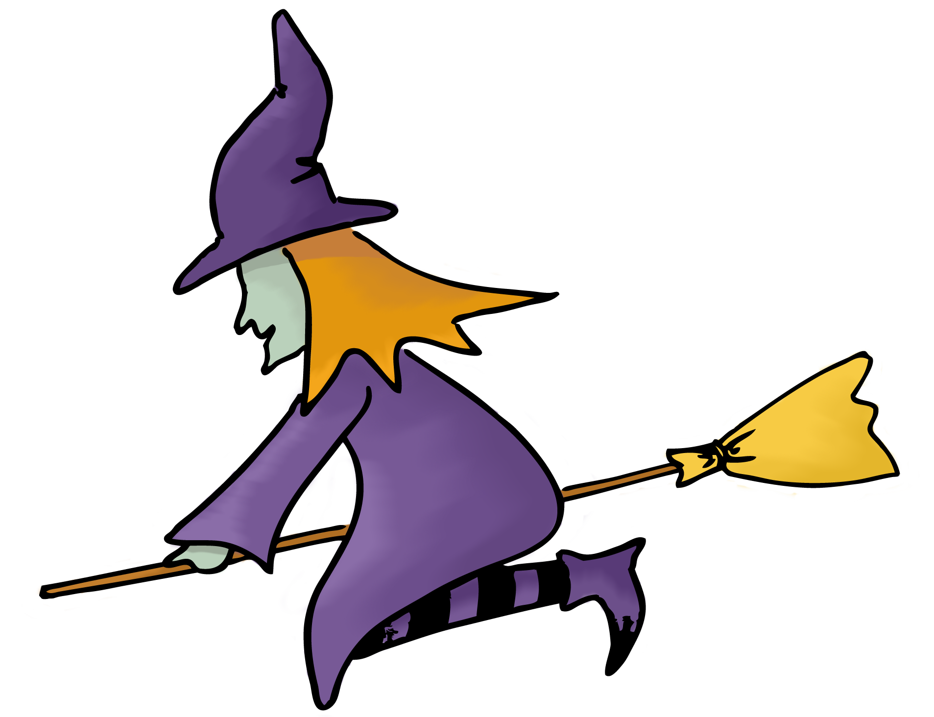 Witch clipart #7
