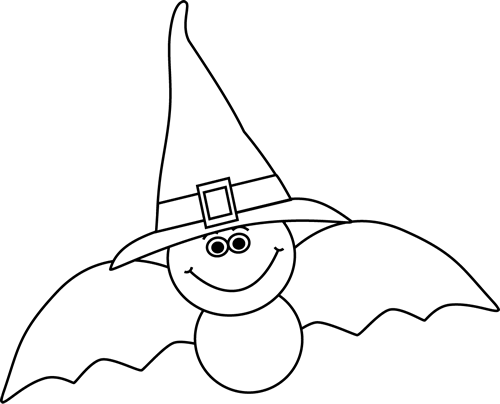 Witch Hat clipart bat Collection White clipart in Bat