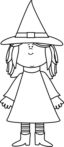 Witchcraft clipart black and white Black White and Clip and