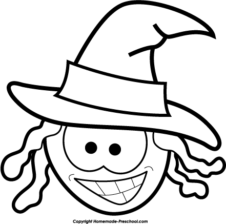 Witchcraft clipart black and white Halloween and black clip and