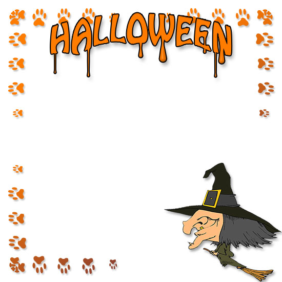 Witch clipart border Clipart Happy Borders Larger Version