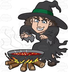 Witch clipart bowl By Spell Pin A Ward
