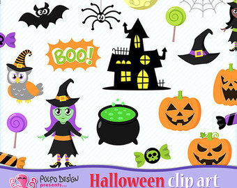 Witch clipart bowl Personal clip & Digital Instant