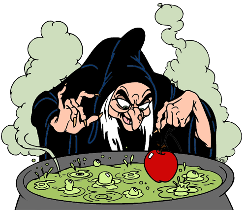 Witch clipart brew Evil cauldron Witch apple Witch