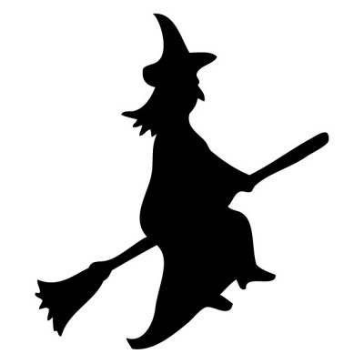 Witch clipart broom silhouette Bro On Halloween A On
