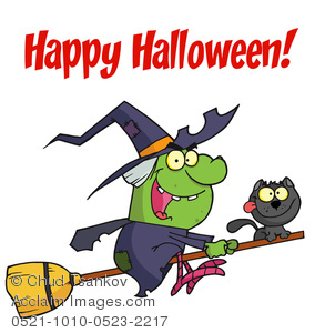 Witch clipart cackle And Her A on Riding