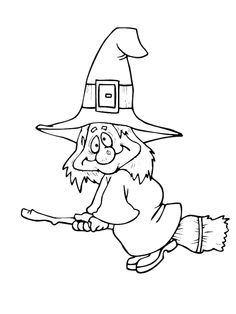 Witch clipart color Coloring Collections – Festival Coloring