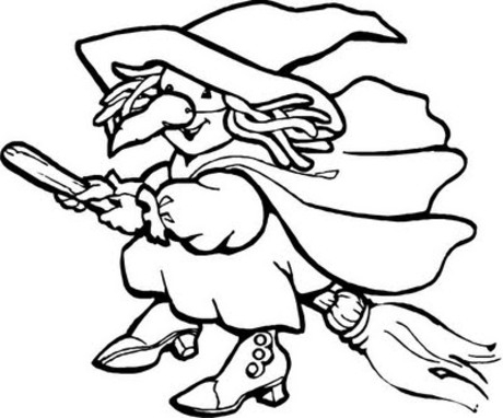 Witch clipart color Witch To Coloring Pages 2