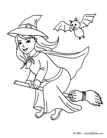 Witch clipart color Coloring Craft Print Color for