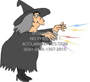 Witchcraft clipart curse Spell Casting Witch A A
