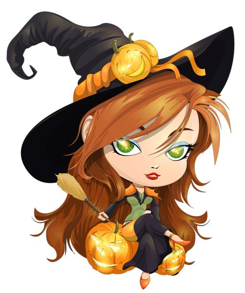Witchcraft clipart cute witch Pinterest Art❤Halloween Find on Witches