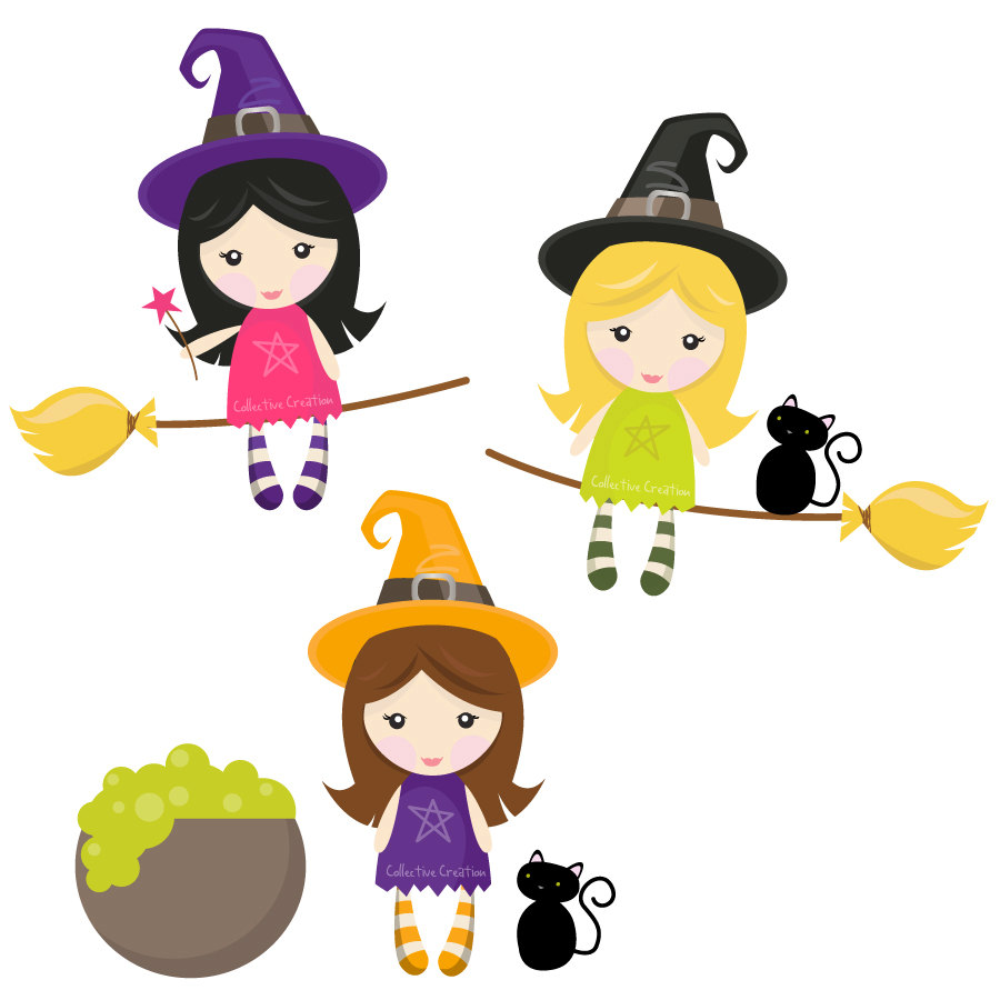 Witchcraft clipart cute witch Witch Witches art image Cute
