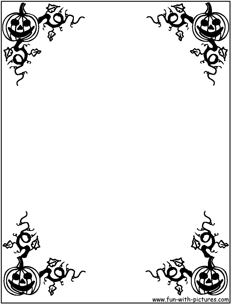 Witch clipart frame  Holiday Border Frames Halloween
