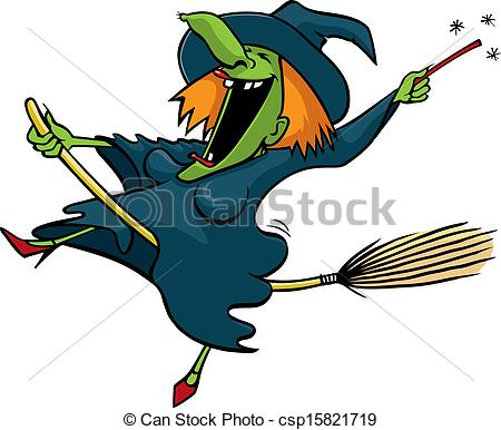 Witch clipart happy Art file cartoon Vector having