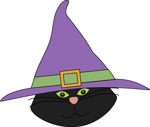 Witch clipart halloween witch hat Witch Image with Cat Witch