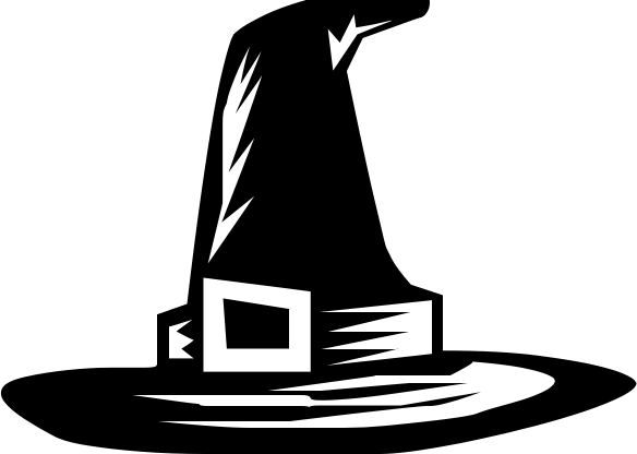 Witch Hat clipart black and white /holiday/halloween/witch/witch_hat/witch_hat_4_BW hat 4  4