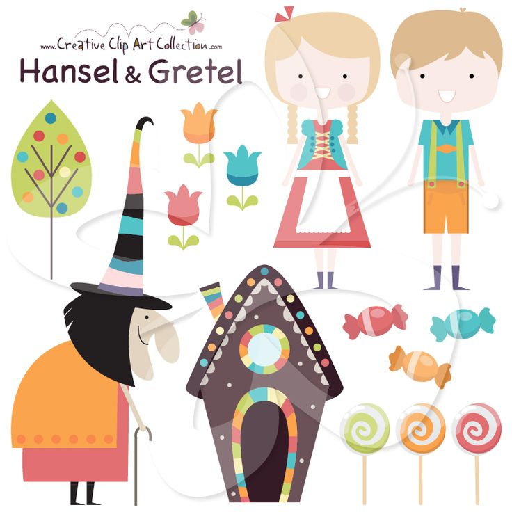 Cottage clipart hansel and gretel Cute by set Gretel This