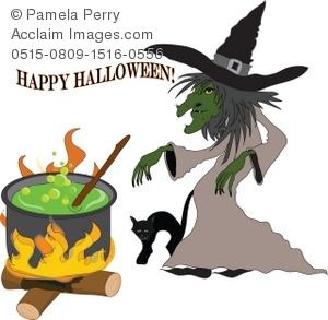 Witch clipart happy Happy Art Illustration Witch of