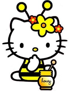 Bees clipart hello kitty ClipArt Kitty Bee and paleo