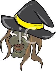 Witch clipart hideous Face and a Wicked and