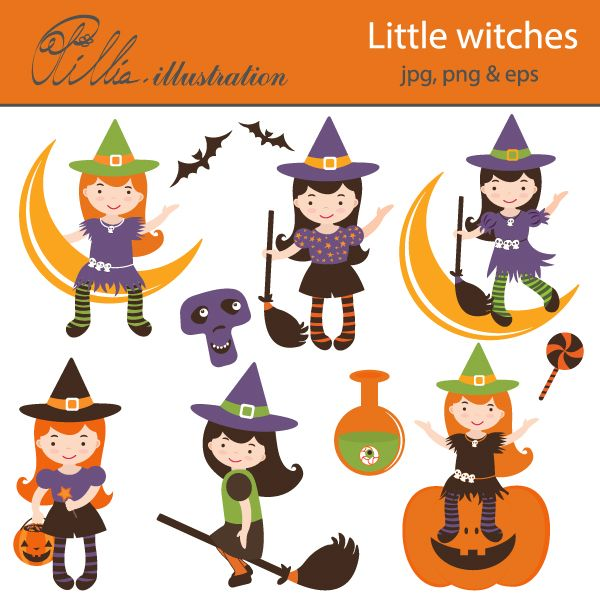 Witch clipart little witch Sticker made on 392 10