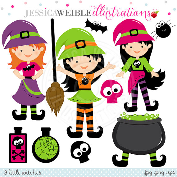 Witch clipart little witch Card Cute Il_570xn Little Design
