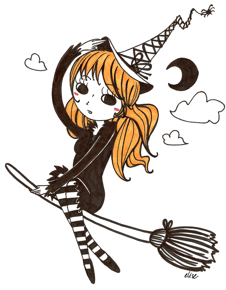 Witch clipart little witch By missusrousselee The witch missusrousselee