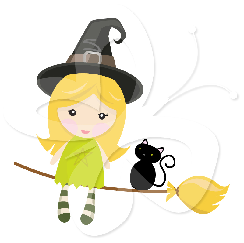 Witch clipart little witch Collection Art Set Little Clip