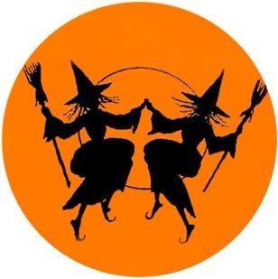 Witch clipart orange Witch Vintage Clip Art Elements