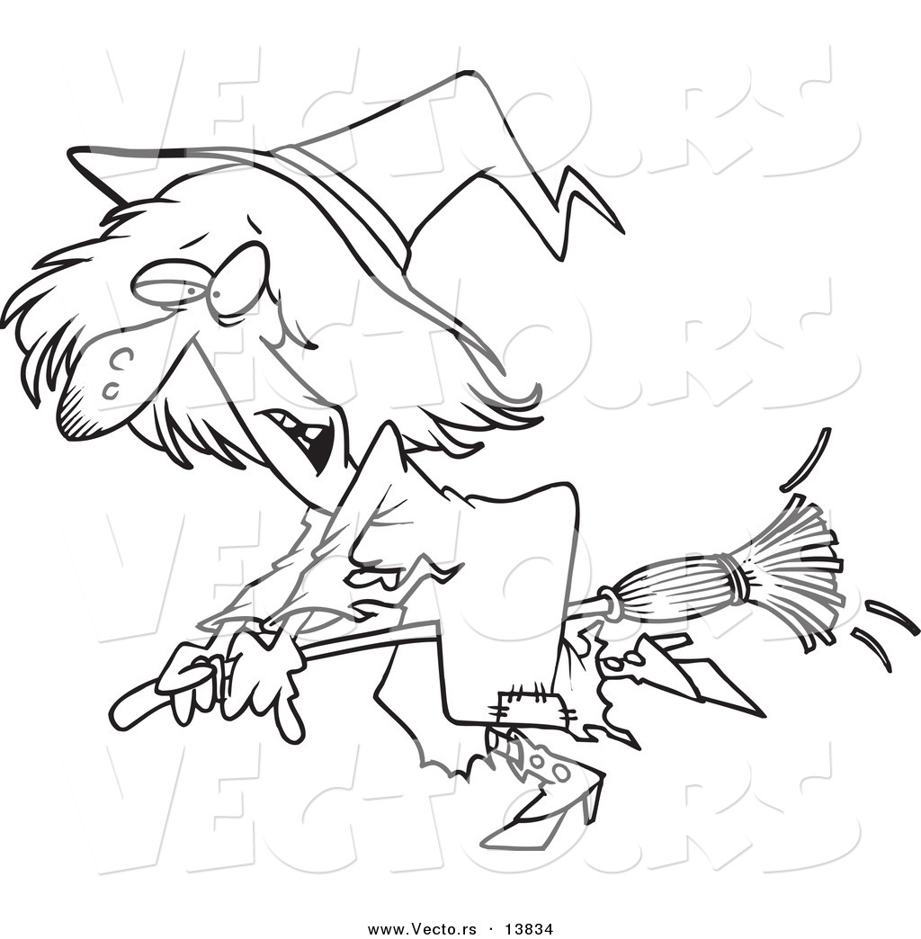 Witch clipart outline Outline Witch  Witch Outline