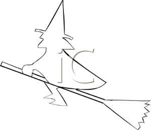 Witch clipart outline Witch Clipart Outline Outline Witch