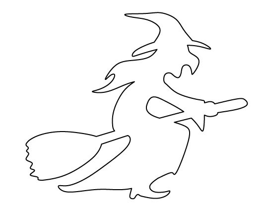Witch clipart outline Clipart Zone Witch outline Cliparts