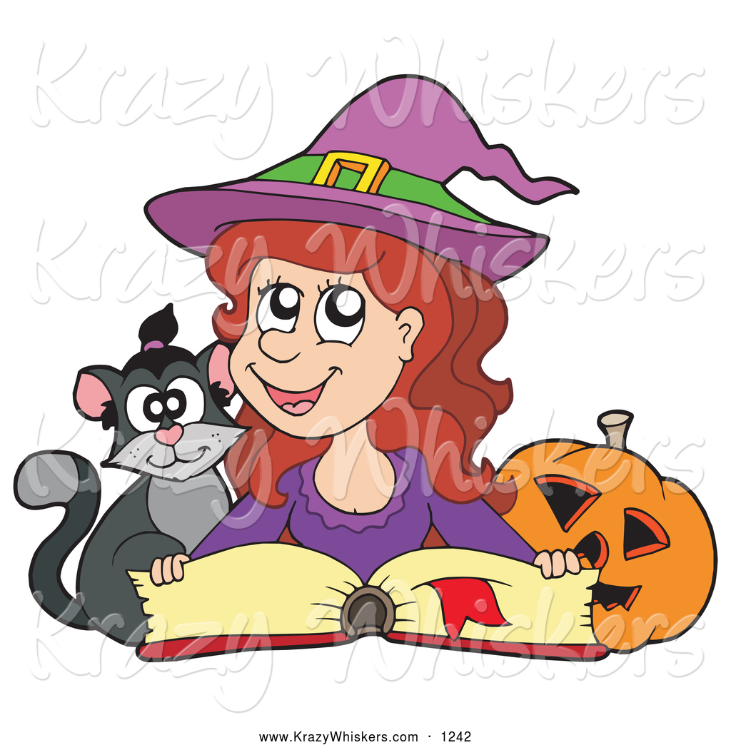 Witch clipart reading Witch Cute Designs Free Halloween
