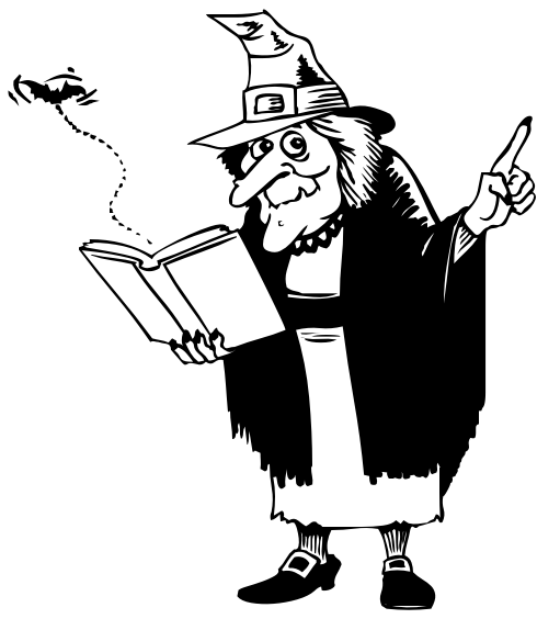 Witch clipart reading Book witch BW reading /holiday/halloween/witch/witches_5
