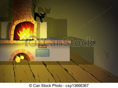 Witch clipart room Cartoon EPS 47 Illustration room