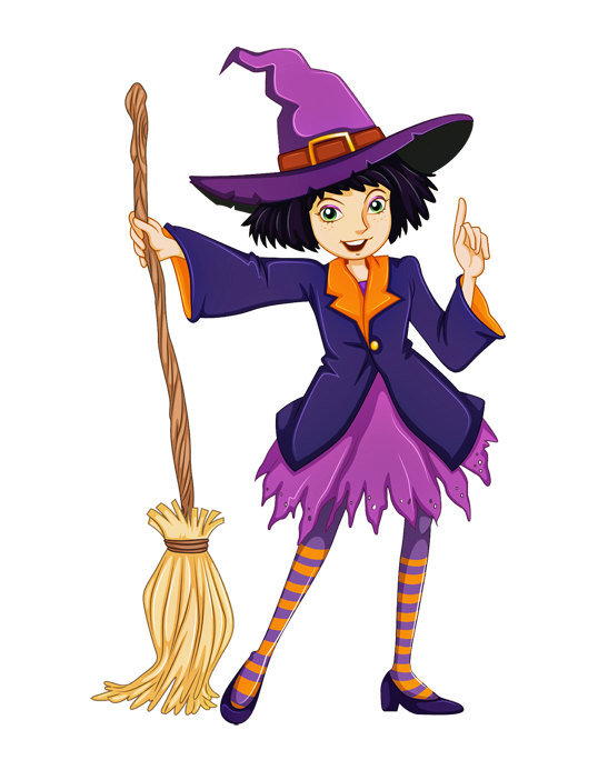 Witch clipart room Witch Large  Halloween Teen