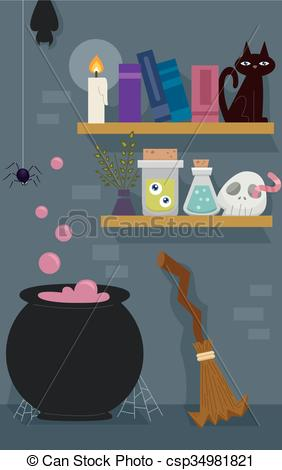 Witch clipart room The Shelf of of Pot