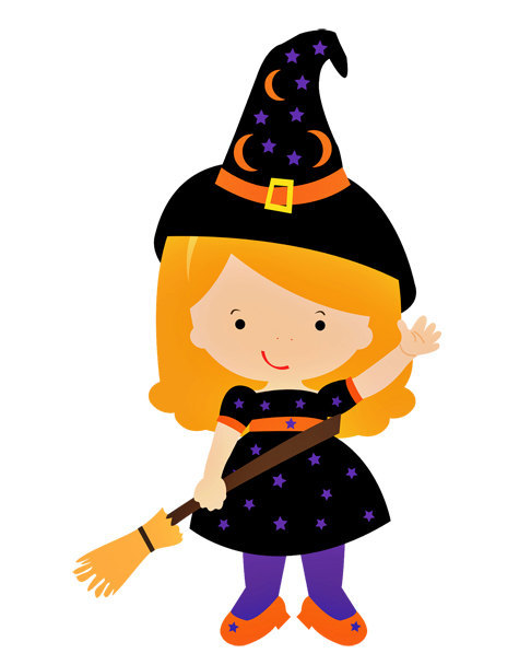 Witch clipart room Witch Cutout Little Baby Little