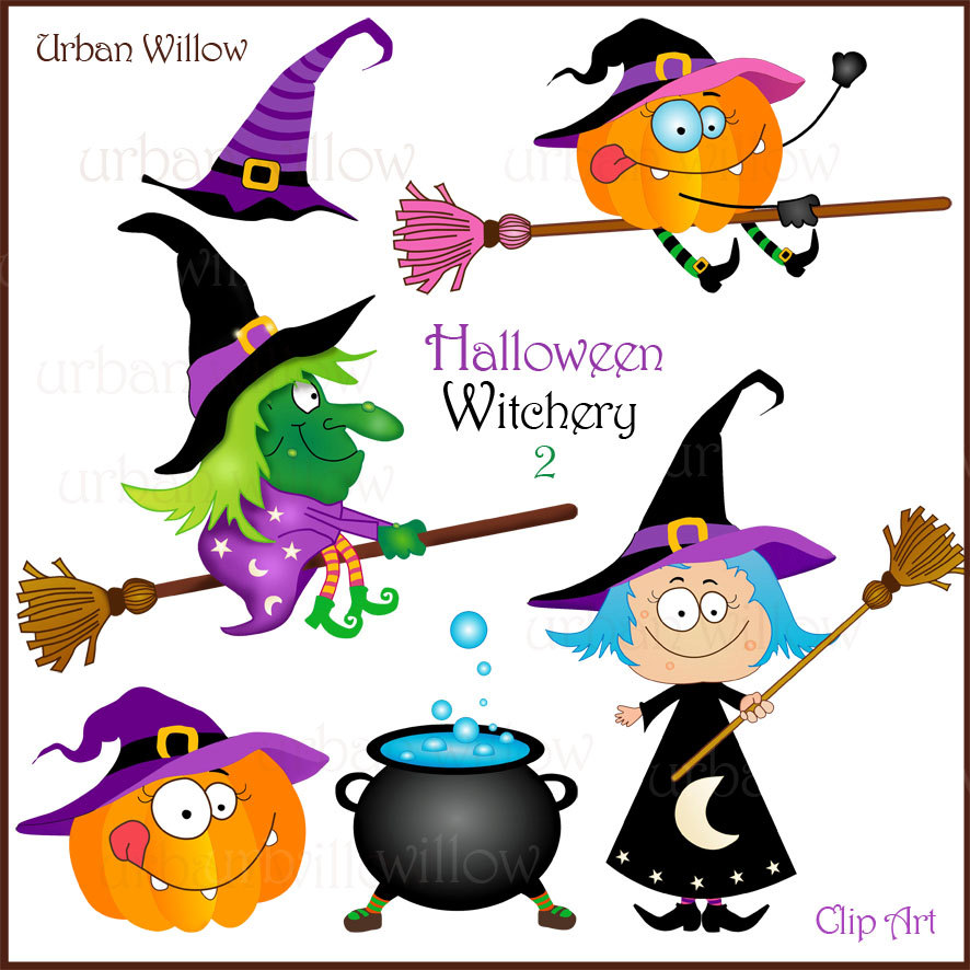 Witch clipart silly  Cute Halloween a Funny