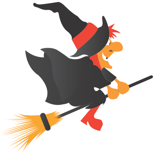 Witch clipart simple Free  Art Broom Riding