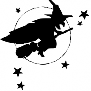 Witch clipart simple Flying Witch Download Page Clip