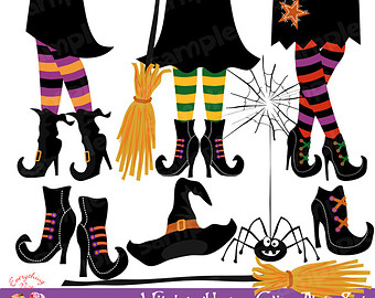 Witch clipart sock Hour Etsy feet clipart Clipart
