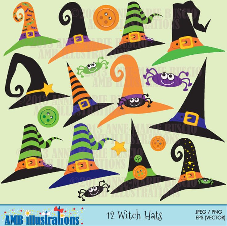 Witch clipart sock Art 17 hats clip graphics