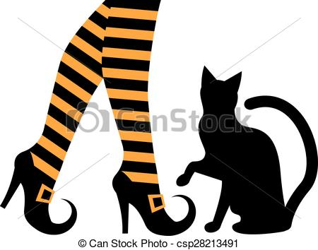 Witch clipart sock Beautiful Socks witch black